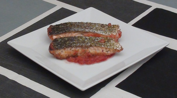 salmon crujiente al horno