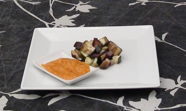 verduras al horno con romesco