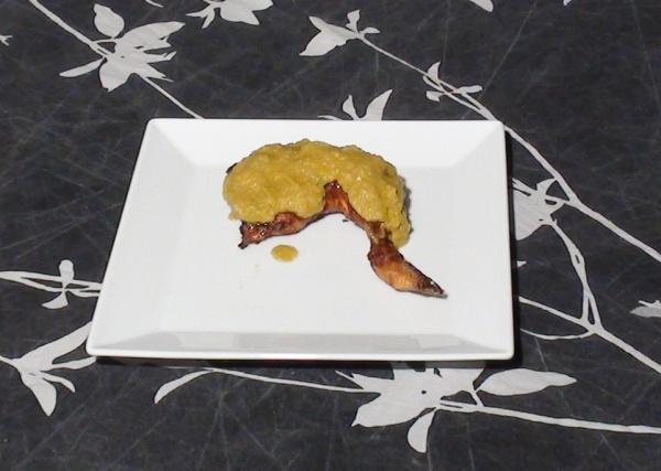 Pollo con salsa de melocotón