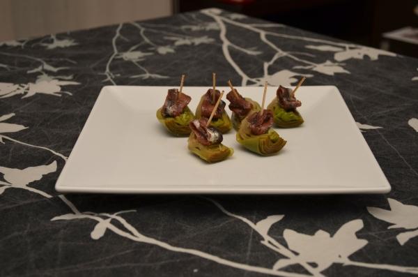Alcachofas con anchoas